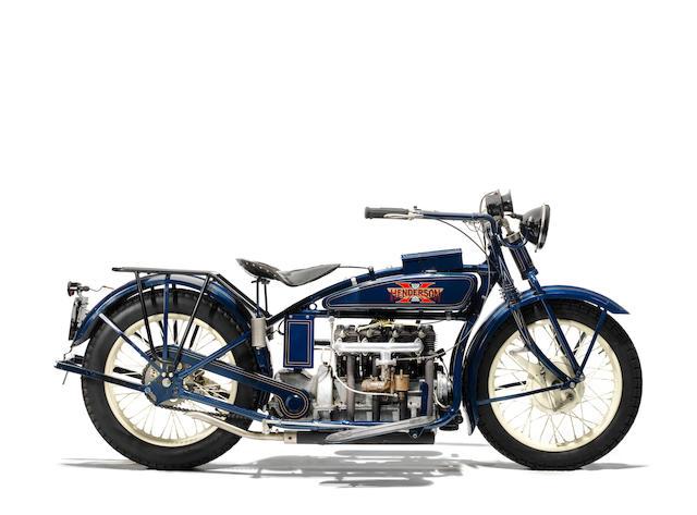 Property of a deceased's estate,1925 Henderson 1,301cc De Luxe Four Frame no. 1177 Engine no. D18387C
