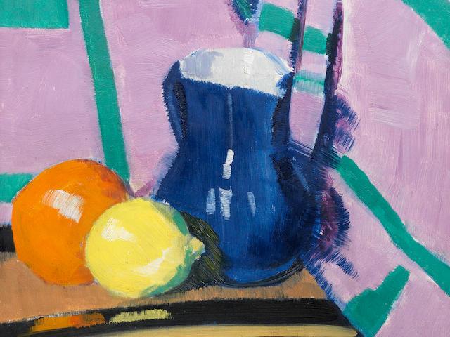Francis Campbell Boileau Cadell RSA RSW (British, 1883-1937) The Blue Jug 45.2 x 37.4 cm. (17 3/4 x 14 3/4 in.) (Painted circa 1922)