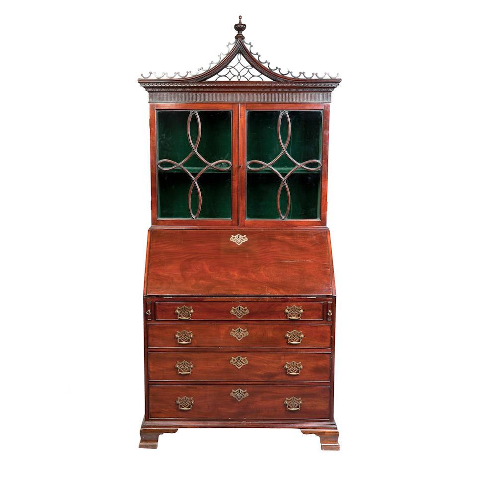 Attributed to Francis Braidwood, An Edinburgh George III mahogany bureau bookcase