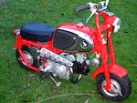 Single family ownership from new,1964 Honda 50cc CZ100 'Monkey Bike' Frame no. S001492 Engine no. B11329