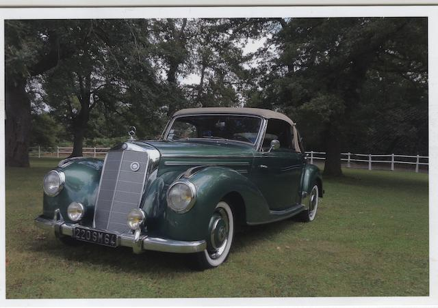 Long term ownership (since over 30 years),1952 Mercedes-Benz  220 Cabriolet A  Chassis no. 2279952