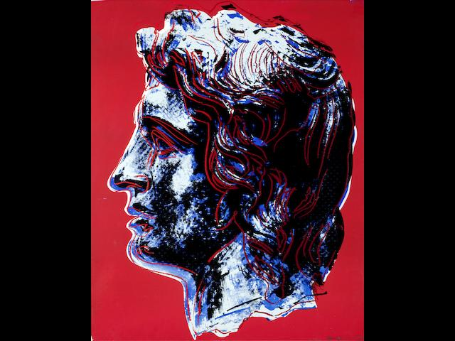 Andy Warhol (American, 1928-1987) Alexander the Great Screenprint in colours, 1982, on Lenox Museum Board, signed, inscribed 'T.P.' and numbered 'IV/VIII' in pencil, a unique trial proof aside from the edition of 25, published by Alexander Iolas, New York, with the artist's copyright stamp on the reverse, the full sheet, 1016 x 813mm (40 x 32in)(SH)