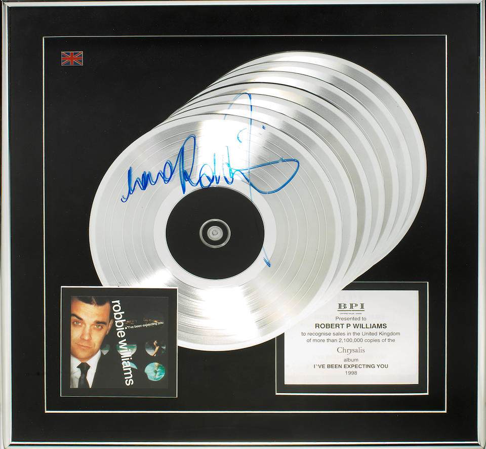 A Multi-Platinum award for the album I've Been Expecting You, UK, 1998, 2