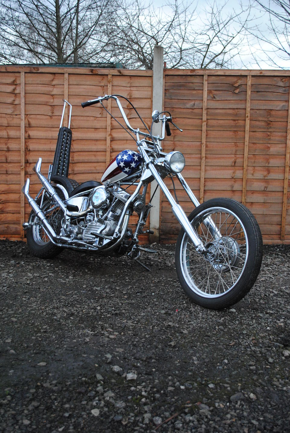 Property of a deceased's estate,1952 Harley Davidson 1,200cc EL 'Captain America Replica' Frame no. 52EL1466 Engine no. 52EL2466