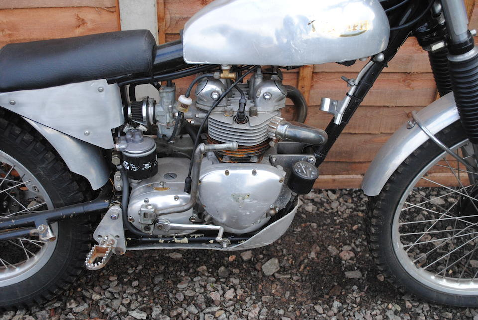 Property of a deceased estate,'Triumph' 350cc Trials Special Frame no. GT/D12777 Engine no. T100R H52054