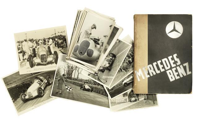 Eine Auswahl von Vorkriegs Mercedes-Benz Grand Prix Rennfotografien, inklusive Donington 1937 ((Qty))