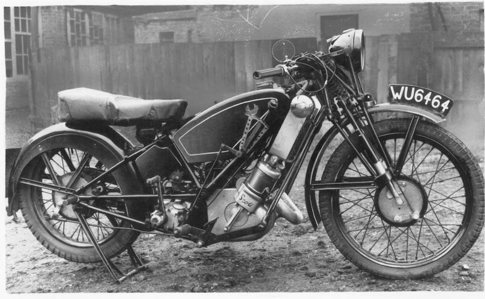 1926 Scott 498cc TT Racing Motorcycle Frame no. 3 Engine no. TT3 (see text)