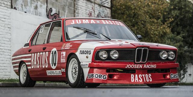 Ex-Eddy Joosen, Jean-Claude Andruet, Dirk Vermeersch 1981 Spa-Francorchamps 24 Hours Class Winner and 2nd Overall ,1981 BMW 530i Competition Saloon  Chassis no. JUMA 1025