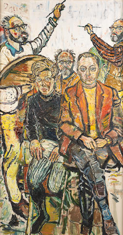 John Bratby R.A. (British, 1928-1992) Portrait of Lord and Lady Attenborough