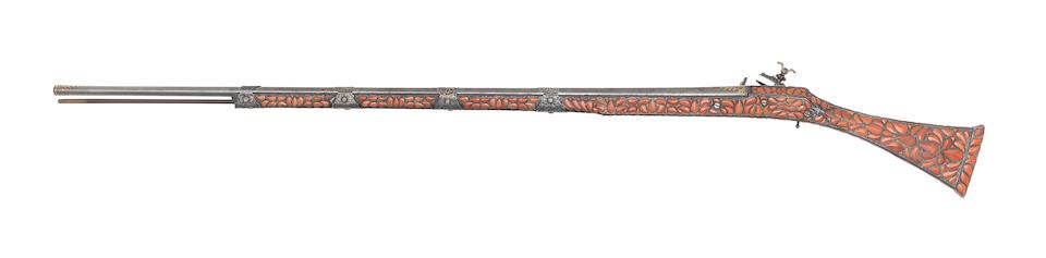 A Fine And Very Rare Algerian 20-Bore Toe-Lock Gun