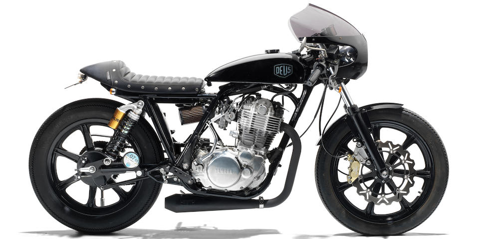 The property of James May,2010 Yamaha SR400 'Grievous Angel' by Deus Ex Machina Frame no. 7AT0J42TX09010404 Engine no. H313E010407