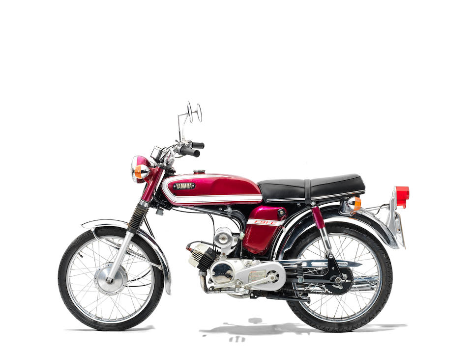 The property of James May,1974 Yamaha 49cc FS1-E Frame no. 394-019154 Engine no. 394-019154