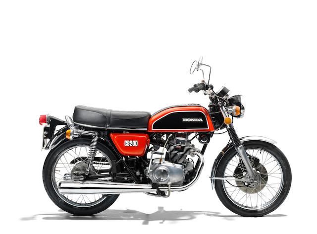 The property of James May,1975 Honda CB200 Frame no. 1027561 Engine no. 1029413
