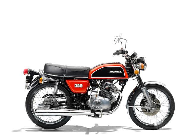 The property of James May,1975 Honda CB200 Frame no. 1027561 Engine no. 1029413