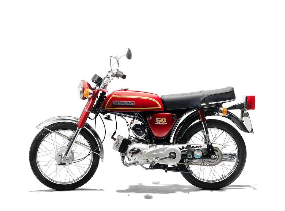 The property of James May,1976 Suzuki AP50 Frame no. 14733 Engine no. 229967