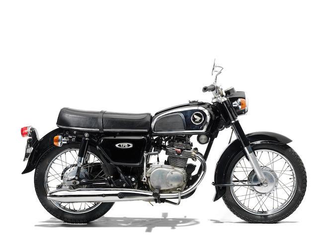 The property of James May,1973 Honda CD175 Frame no. 3013175 Engine no. 3013475