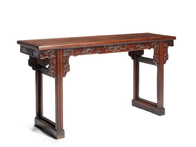 A rare huanghuali altar table Early Qing Dynasty