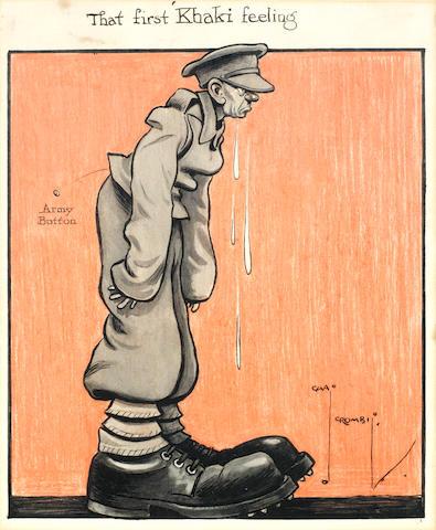 Charles Crombie (British, 1885-1967) 'That First Khaki Feeling'