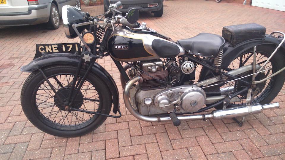 1936 Ariel 601cc Model 6F Square Four Frame no. Y11333 Engine no. XB415