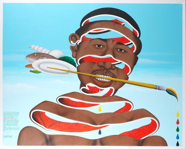 Chéri Samba (Democratic Republic of Congo, born 1956) 'J'aime la couleur'
