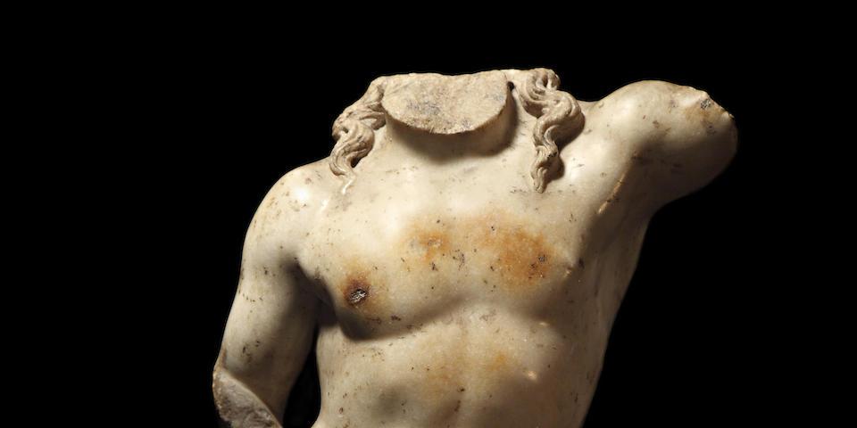 A Roman marble torso of Dionysus