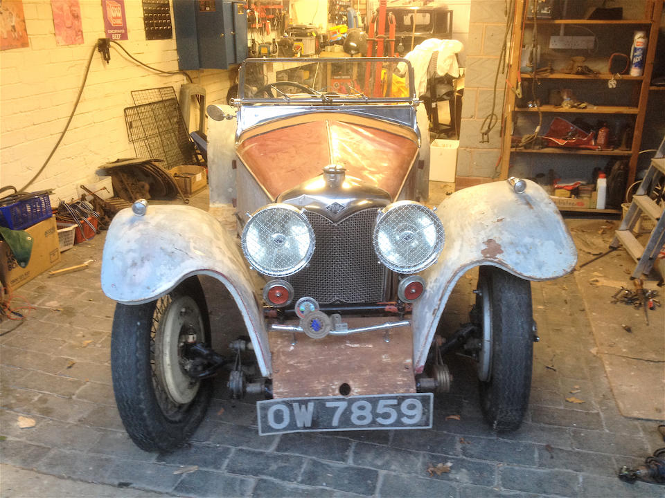 Present family ownership since 1964,1935 Riley 9hp Imp Sports Two-seater  Chassis no. 6027359     Engine no. 55514 (see below)
