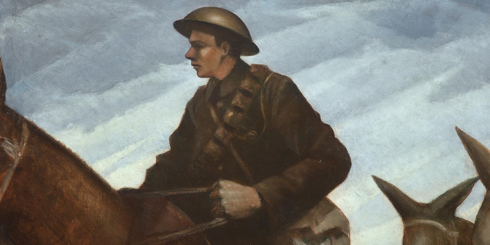 Exceptionally rare Nevinson First World War oil painting at Modern British and Irish art sale