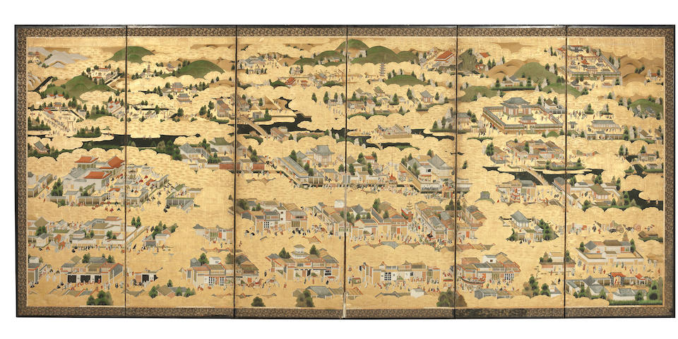 ANONYMOUS Machi-eshi style, Edo Period, 1630s-1640s (2)