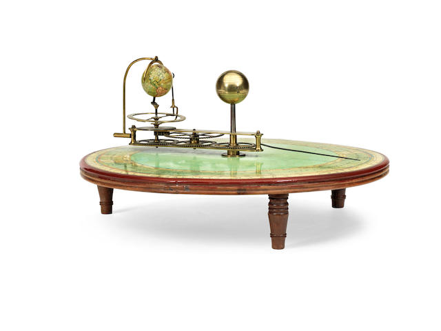 A fine combined tellarium and planatarium,  English, early 19th century,