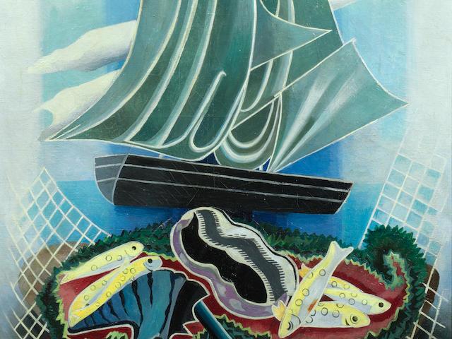 Alexandra Exter (Russian, 1884-1949) 'Voilier et coquillage', c. 1935