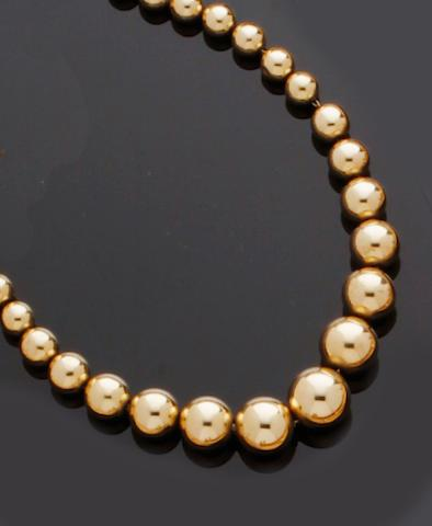 Tiffany & Co: A bead necklace
