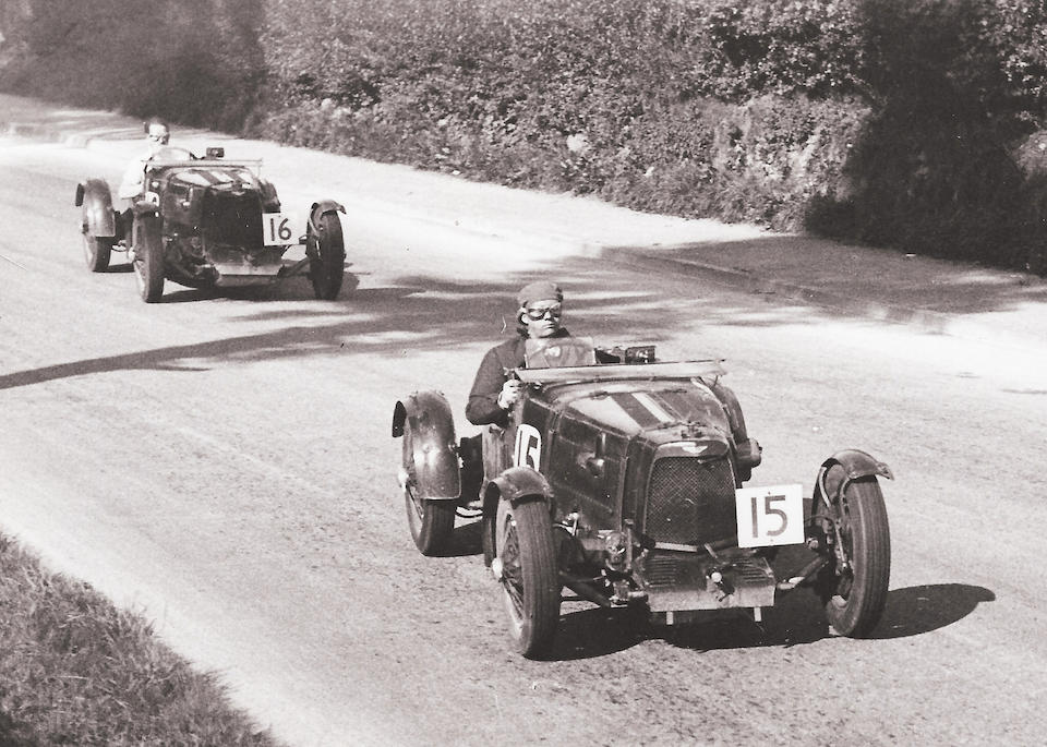 More than 45 years in current family ownership The Ex-Dick Seaman,  'Charlie' Martin, Tommy Clarke, Maurice Falkner, Clifton Penn-Hughes,  Thomas Fothringham,1935 Aston Martin Works Ulster 'LM19' Mille Miglia, RAC Tourist Trophy, French Grand Prix, Le Mans 24-Hours Competition Sports Two-Seater  Chassis no. LM19 Engine no. LM19