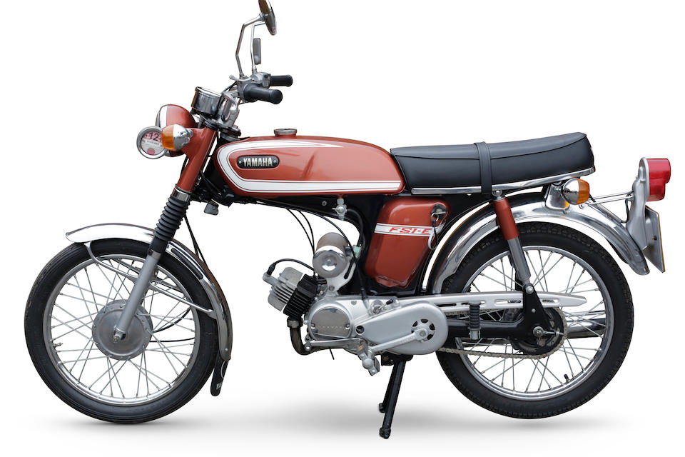 The property of Richard Hammond,1975 Yamaha 49cc FS1-E Frame no. 54773 Engine no. 54773