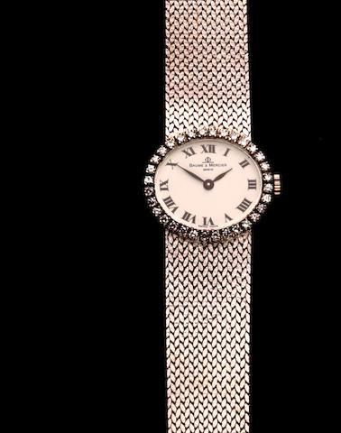 Baume & Mercier: A lady's diamond set wristwatch