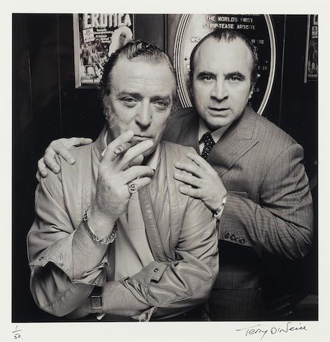 Michael Caine & Bob Hoskins: Terry O'Neill (British, b. 1938) gelatin silver print, London 1985,