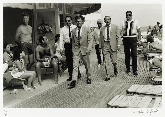 Frank Sinatra: Terry O'Neill (British, b. 1938) gelatin silver print, Miami, 1968,