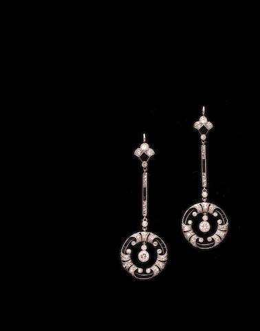 Two diamond and gem set pendants