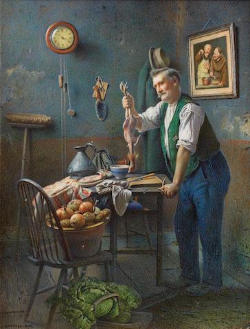 Charles Spencelayh, RMS, HRBSA (British, 1865-1958) Skin and Bone