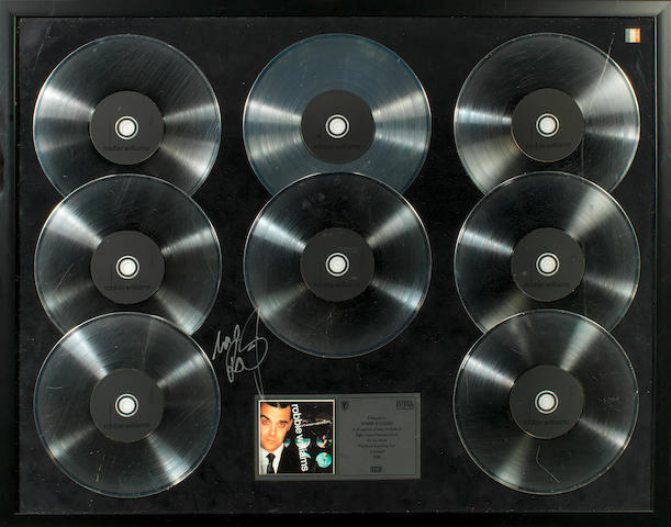 A Multi-Platinum award for the album I've Been Expecting You, Ireland, 1999,