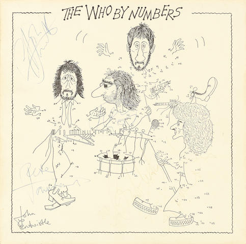 The Who: A signed Who By Numbers album sleeve, Polydor, 1975,