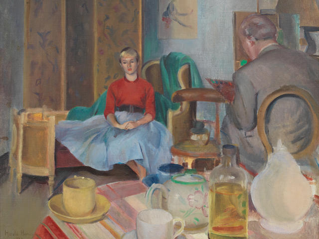 Harold Harvey (British, 1874-1941) The unwilling sitter