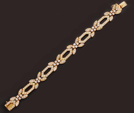 A diamond set bracelet