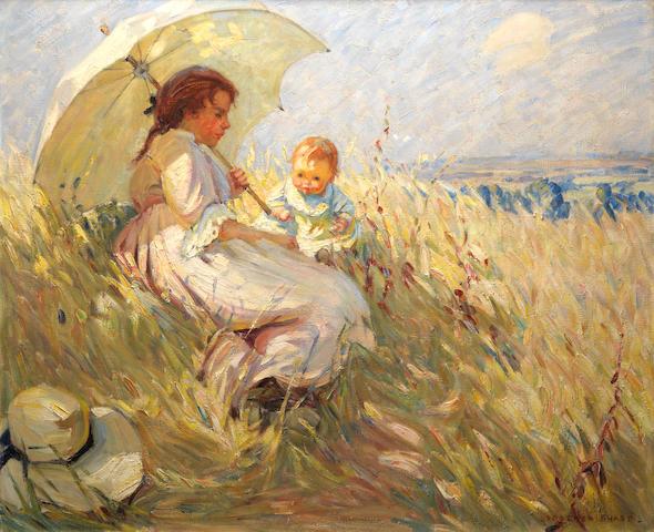 Dorothea Sharp, RBA, ROI (British, 1874-1955) Cornfield in Summertime