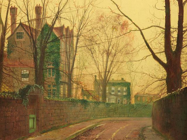 John Atkinson Grimshaw (British, 1836-1893) Autumn afternoon
