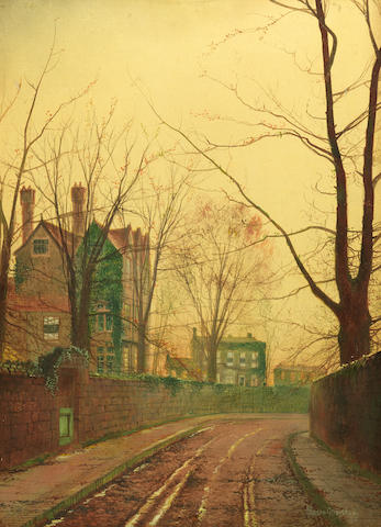 John Atkinson Grimshaw (British, 1836-1893) Autumn afternoon