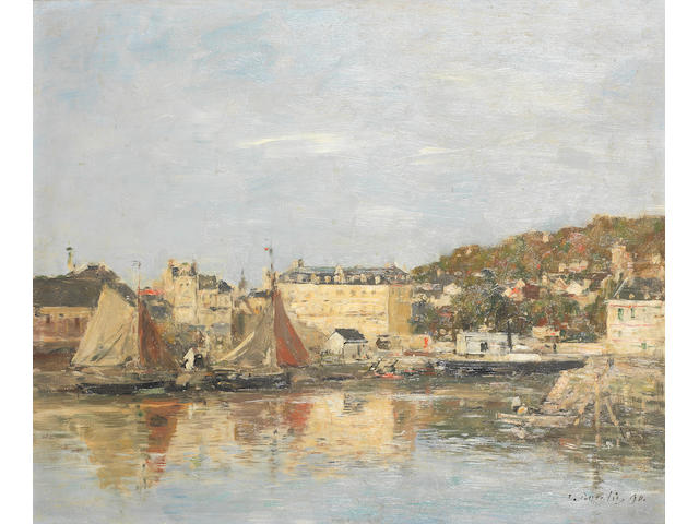 Eugène Boudin (French, 1824-1898) Trouville, le port (Painted in 1890)