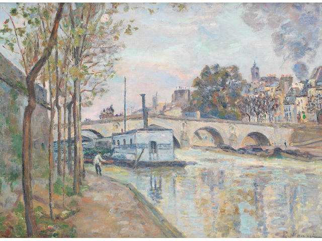 Armand Guillaumin (French, 1891-1955) La Seine à Paris (Painted circa 1874)