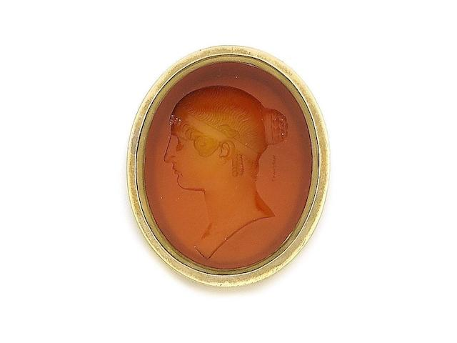 A carved intaglio,   by Nathaniel Marchant (1739-1816)