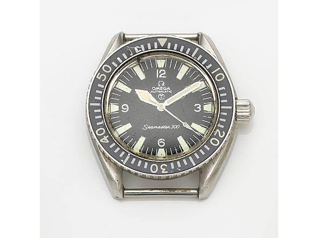 Omega. A stainless steel automatic military issue watch head Seamaster 300, Ref:165.024, Movement No.26290109, Circa 1968