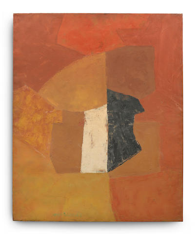 Serge Poliakoff (Russian/French, 1900-1969) Composition abstraite 1955